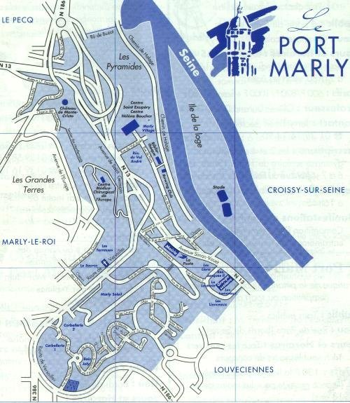 Plan de port marly - Point p port marly ...