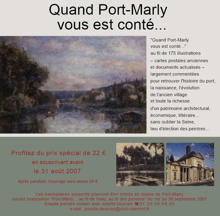Association port marly m moire vivante - 3 avenue simon vouet le port marly 78560 ...